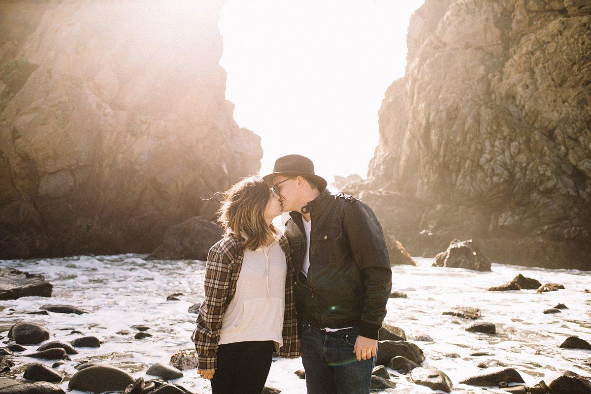 Big Sur Spontaneous Couple Session