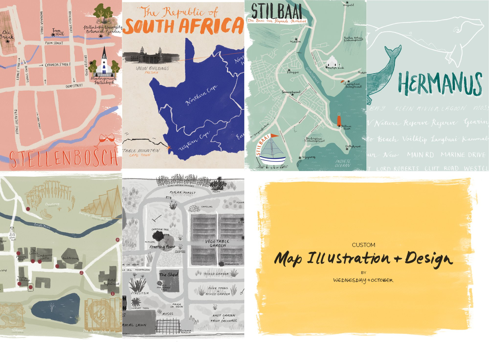 Examples of illustrated maps