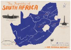 South Africa Illustrated Map