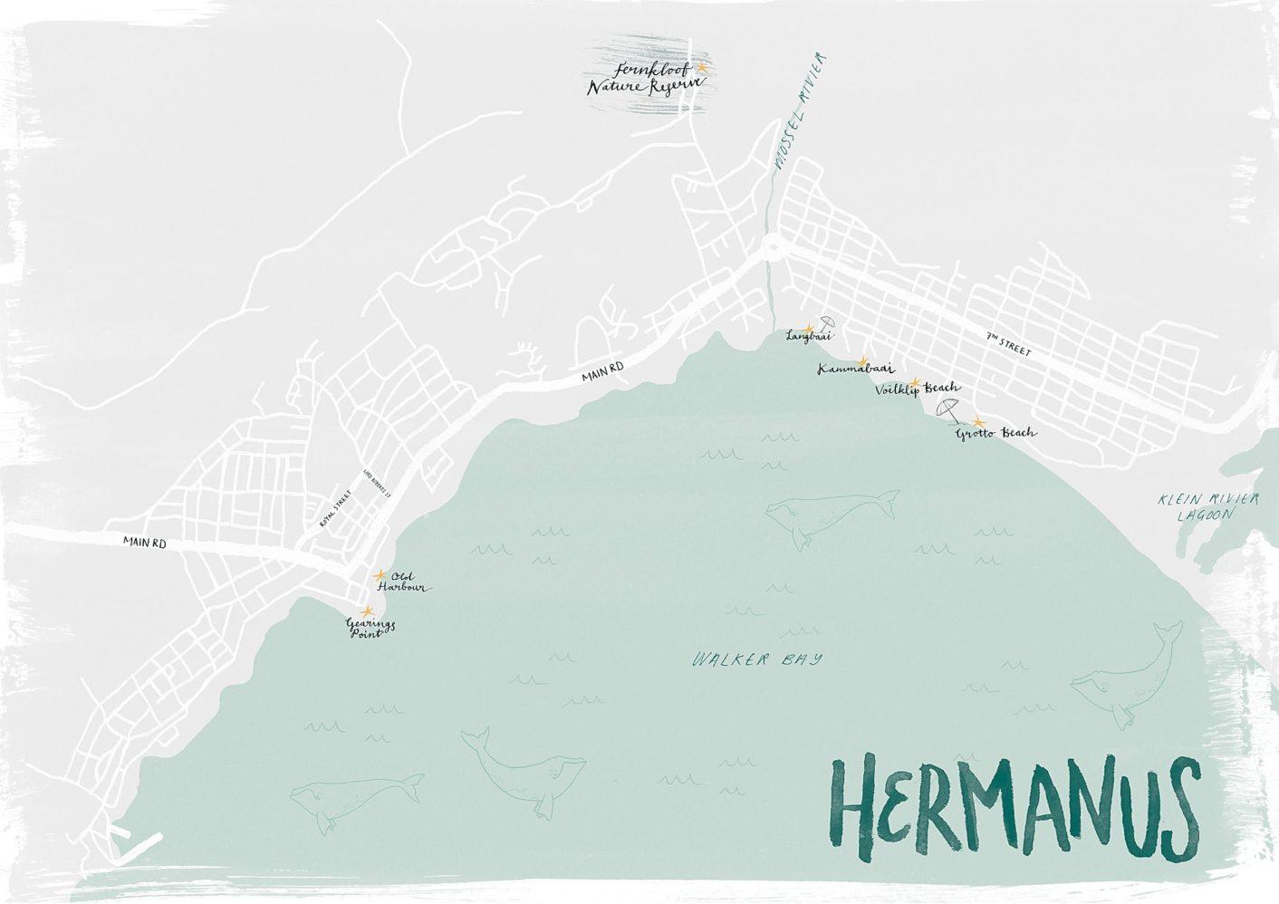 Hermanus Illustrated Map