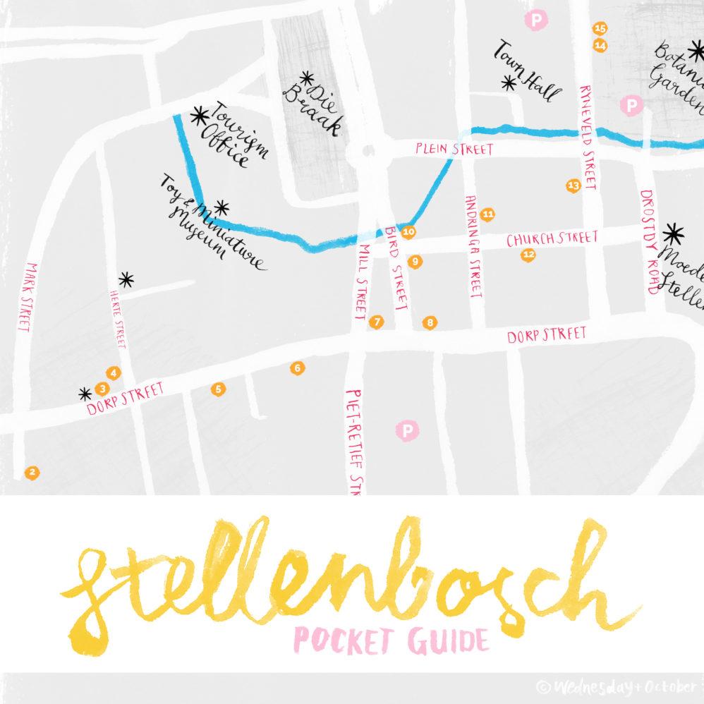 Stellenbosch Pocket Map Illustrated