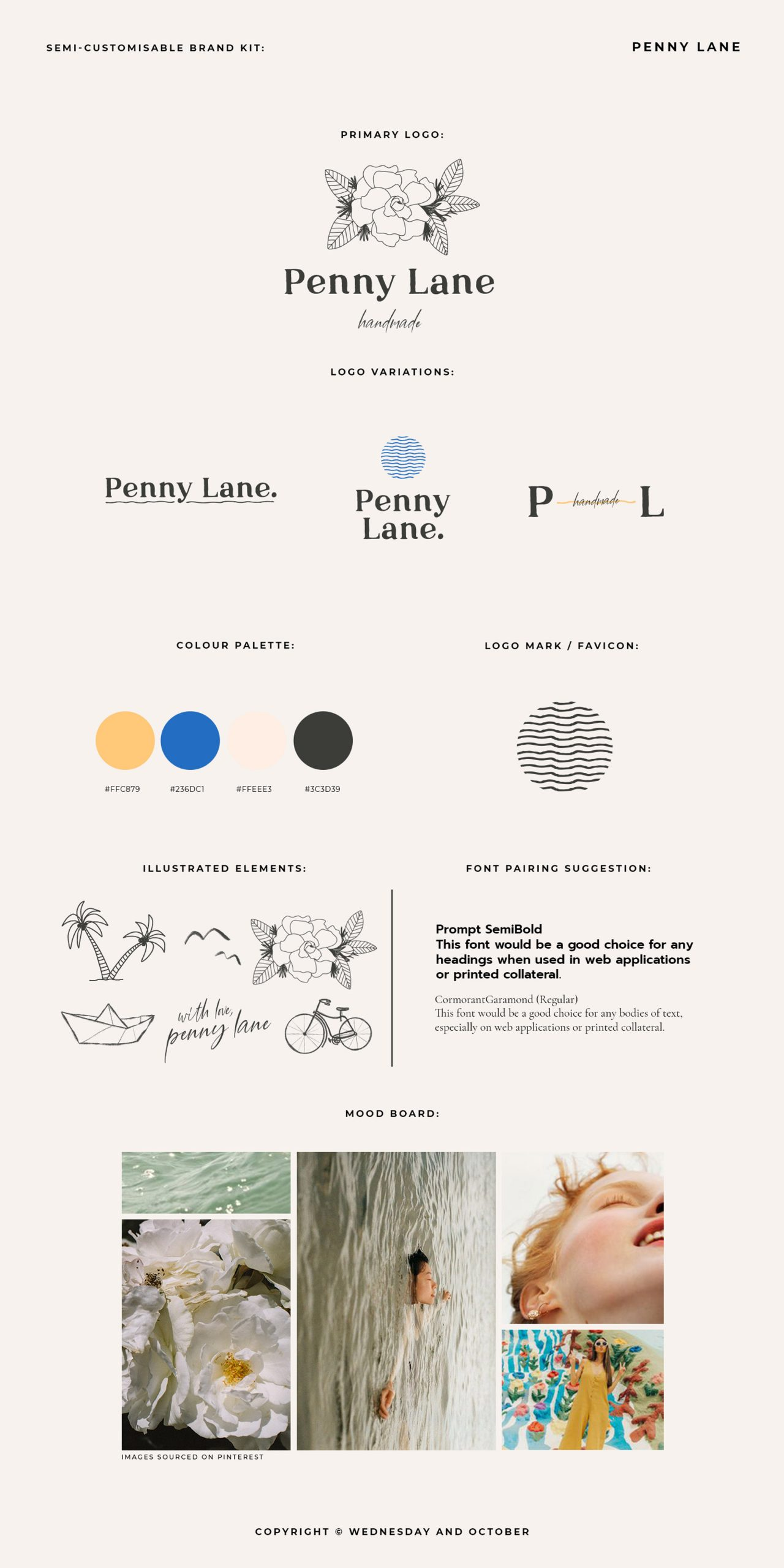 Customisable Brand Kit Penny Lane Guide